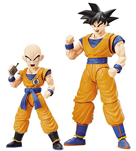 Dragon Ball Son Goku E Krilin Bandai Kit Solto para Montar Bonecos