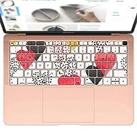 igsticker MacBook Air 13inch 2018 専用 キーボード用スキンシール キートップ ステッカー A1932 Apple マックブック エア ノートパソコン アクセサリー 保護 015940 ハート 赤 模様