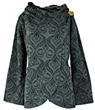 GURU SHOP Cape Wickeljacke, Damen, Schwarz/grau, Baumwolle, Size:L (40), Boho Jacken, Westen Alternative Bekleidung