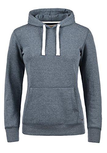 DESIRES Olive Damen Damen Hoodie Kapuzenpullover Pullover Mit Kapuze Und Fleece-Innenseite, Größe:XL, Farbe:Insignia Blue Melange (8991)