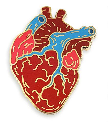 Pinsanity Anatomical Heart Enamel Lapel Pin