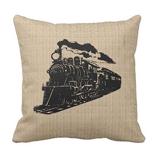 Kissen mit Zug-Motiv, Vintage-Stil