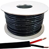 25m Outdoor Rated OXYGEN FREE COPPER (OFC) Speaker Cable Wire *1.5mm²* 2 Core, Double Insulated, Gel Filled Stranded Flex Reel – Perfect for Low Impedance Hi-Fi & 100V Speakers, Amps / Amplifiers