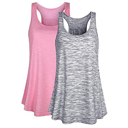 Mujer Camiseta Tirantes Verano Deporte de Gimnasio Camisa Blusa Casual Tops Suelta Camisetas Deporte Fitness Sujetador Deportivo para Mujeres