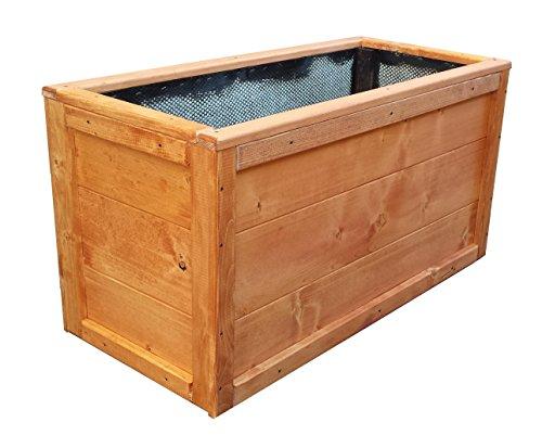Jardinière rectangulaire en bois 100 x 40 x 45 cm également disponible sur mesure!