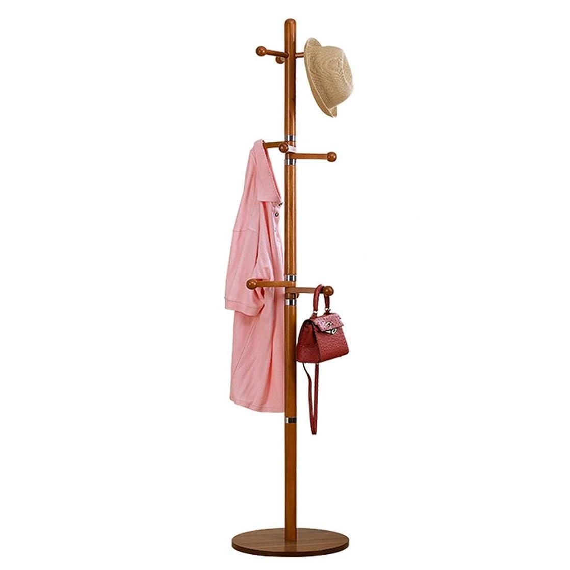 申請中罪人超越するEIIDJFF 床の立ち上げ帽子とコートコートラックソリッドウッドシンプルなベッドルームのホームハンガー