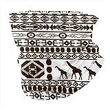 Nobrand Bandana sin costuras, bufanda para la cabeza, diadema, calentador de cuello, polaina, pasamontañas, patrón clásico africano sin costuras