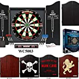 Winmau Darts Set (Black Cabinet, Diamond Dartboard and Darts)