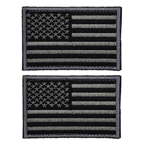 BESPORTBLE 2Pcs Taktische Patches Selbstklebende Amerikanische Flagge Applikation USA Militäruniform Emblem Patches für Rucksäcke Mützen Hüte Jacken Hosen