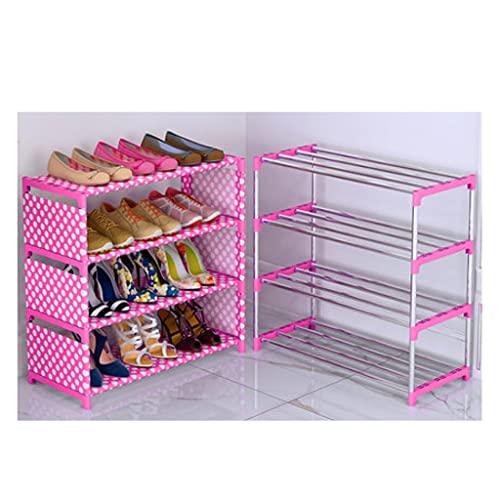 QIFFIY Zapatero resistente al polvo, organizador de almacenamiento sencillo, estilo libre, caja para zapatos, entrada de almacenamiento, artefacto de una línea (color azul)