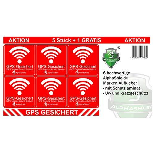 6 unidades de pegatinas de GPS para interior o exterior, para bicicleta, motocicleta, maquinaria de construcción, coche, camión, alarma antirrobo, seguro R047 (adhesivo interior).