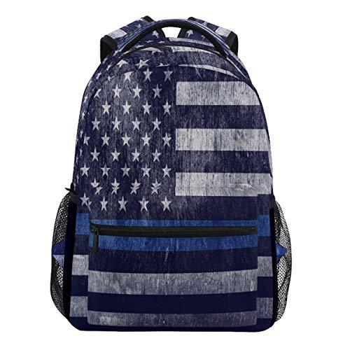 Oarencol Amerika-Rucksack mit Flagge, gestreift, Blau