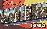Waterloo, Iowa - Large Letter Scenes (9x12 Fine Art Print, Home Wall Decor Artwork Poster)