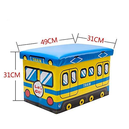 ZXXFR Wasmand Opvouwbare wasmand, kinder- Blue Train boodschappenmand met grote capaciteit inklapbaar, ideaal voor het opbergen van wasgoed, camping, outdoor-activiteiten en nog veel meer