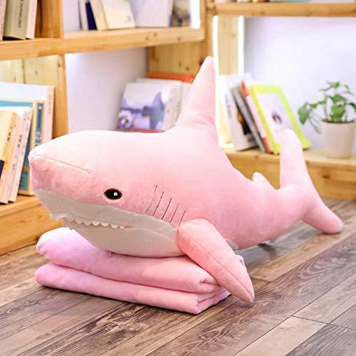 HCYH 60-140cm tiburón Ruso Gigante de Ike un tiburón Rosa Relleno Almohada...