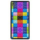 Hapdey Coque pour [ Sony Xperia XA1 Ultra ] Dessin [ Carrés colorés avec des Gouttes d'eau ] Etui...