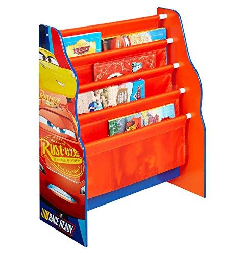 Disney WA Cars Bücherregal Holz Organizer Spielzeugregal Spielzeugkiste Lighnting McQueen Regal