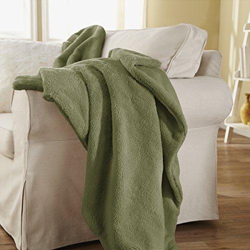 Sunbeam Heated Throw Blanket | LoftTec, 3 Heat Settings, Sage - TSL8TS-R660-31A00