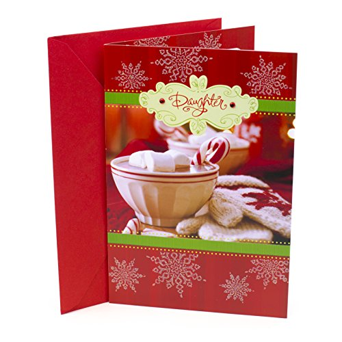 Hallmark Christmas Card for Daughter (Cocoa and Snowflakes)