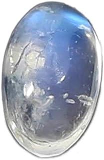 Cabujón ovalado de 3 x 5 mm, piedra lunar azul.