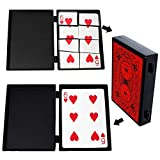 OUERMAMA Professional Torn Playing Card Restore Magic Trick Box with Video Tutorial Close Up Magic Props Gimmick Case Toy for Kids and Adults