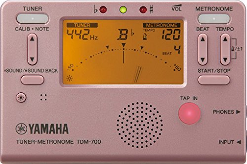 Yamaha TDM-700P Tuner Metronome with Dual Function for Tuner and Metronome Simultaneously Sound Back Function Perfect for Daily Practices