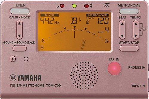 ヤマハYAMAHAチューナーメトロノームTDM-700Pチューナーとメトロノームが同時に使えるデュアル機能搭載サウンドバック機能日常の練習に最適