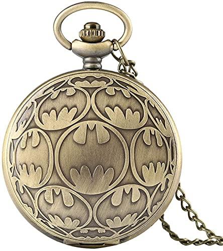 KDOAE Reloj de Bolsillo Unisex Vintage Bolsillo Reloj de Cuarzo Bolsillo Reloj Collar Colgante Relojes Casuales Reloj Reloj para el Aniversario de Cumpleaños (Color : Brass, Tamaño : One Size)