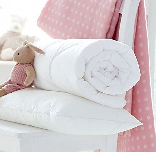 Egypto Anti-Allergy Cot Bed Duvet - Comforter with Pillow Set - Available in 4.5, 7.5 & 9 TOG (120 x 150 cm, 4.5 TOG)