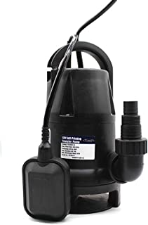 FPOWER 1/2HP Clean/Dirty Water Submersible Pump with 10-Foot Cord Utility Pump with Automatic ON/Off Float Switch for Fountain, Pond, Pool, Aquarium, Cisterns