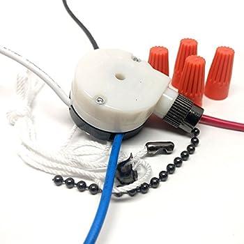 CeilingFanSwitch Zing Ear ZE-208s 3 Speed 4 Wire Rotary Control Ceiling Fan Switch - Black Nickel Finish