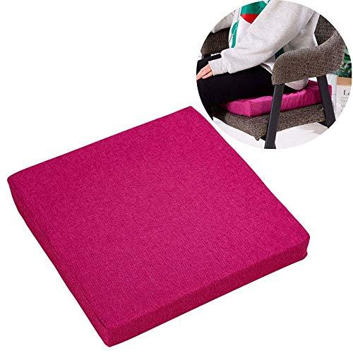 KTDT 4X Cojines de Silla cómodos con Lazos Almohadillas de Asiento para sillas de Comedor Almohadilla Cocina Cubierta Gruesa extraíble Interior Sala de Estar al Aire Libre Patio Jardín Oficina Ca