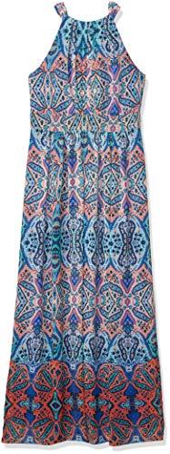 Eliza J womensEJ6M2527Halter Maxi Dress Sleeveless Dress - Multi - 12 Teal