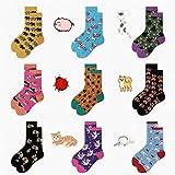 5 Paia SP & City 2 Pares/Set Calcetines Estampados De Animales para Mujer Algodón Color Crew Fashion Street Hipster Calcetines Chic Creative Happy Sox