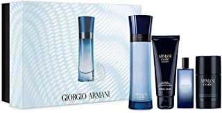 Armani Code Colonia 4-Piece Set for Men 4.2 oz Edt Spray & 0.5 oz Edt Spray & Code Deodorant & 2.5 oz Body Shampoo