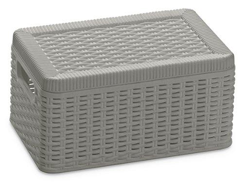 DEA HOME Z380M025 Contenitore Multiuso Decora S, 20x30x15, Tortora