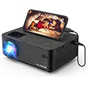 """WiFi Projector, VILINICE Bluetooth Mini Projector with Screen Mirroring, 6000 Lux 1080P Full HD 240""""Display, Compatible with TV Stick, HDMI, VGA, USB, DVD, PS4, Smartphone, Laptop"""