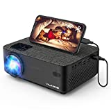 Projector, VILINICE Bluetooth WiFi Projector with Screen Mirroring, 6000 Lux Mini Projector Support 1080P HD 240'Display, Compatible with TV Stick, HDMI, VGA, USB, DVD, PS4, Smartphone, Laptop