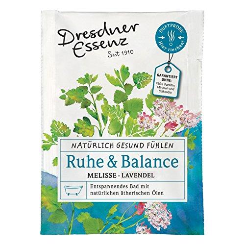 5er Pack Dresdner Essenz Gesundheitsbad Ruhe & Balance 5 x 60 g Melisse/Lavendel, Pflegebad, Entspannungsbad Naturkosmetik