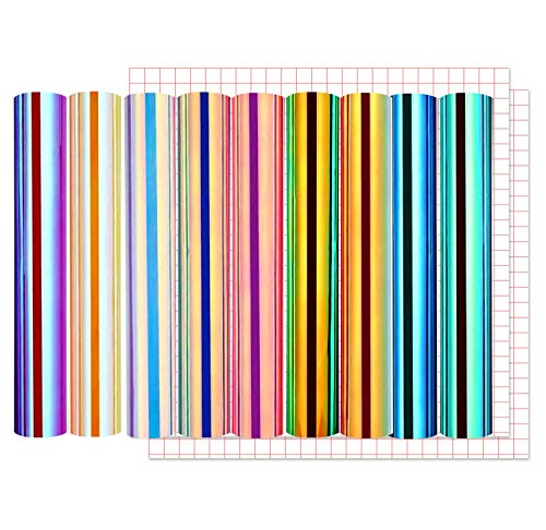 Lya Vinyl Holographic Opal Craft Vinyl Paper 12 x 12 inchs 9 Sheets/Pack with 2...