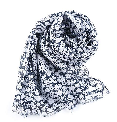 Lady Flower Scarf sjaal, eenkleurig, kleine bloemen, gladde hand, vilt, sjaal uit Bali