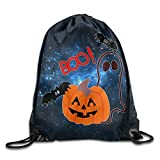 Yuanmeiju Halloween Trick Or Treat Unisex Drawstring Backpack Travel Sports Bag Drawstring Beam Port Backpack.
