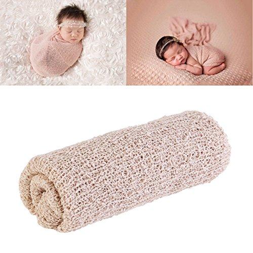 NUOLUX Neugeborenes Baby Fotografie Foto Prop Stretch Wrap Baby lange Ripple Wrap (Beige)