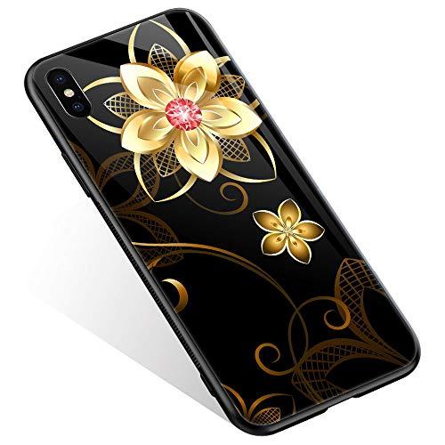 Juicy Case/Schutzhülle für LG G4, mit magnetischer Auto-Halterung, Klapp-Cover, magnetische Brieftasche, Smart View, unterstützt NFC, Freisprechfunktion, iPhone XR, Goldfarbene Bume