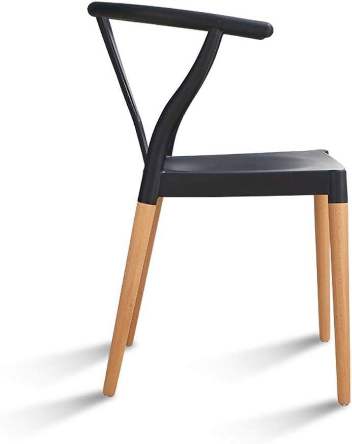 SLL- Chaise de Salle, Chaise de Bureau Simple, créative Dossier, Chaise Loisirs, Maison Adulte Chaise de Salle Moderne (Color : Red) Black