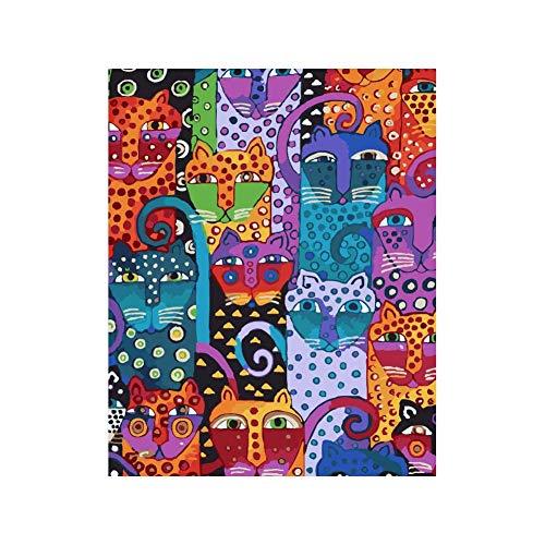 DIY Schilderen op nummerkinderen schilderen kitAbstract dier geometrisch handgeschilderd frameloos schilderij 40x50cm