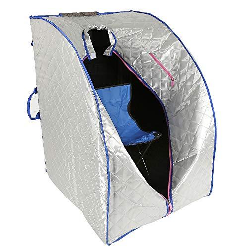 Flyelf Sauna Portatile Personale Spa Detoxify Perdere Peso 98 x 70 x 80 cm 1.8L 3 Colore (Argento)