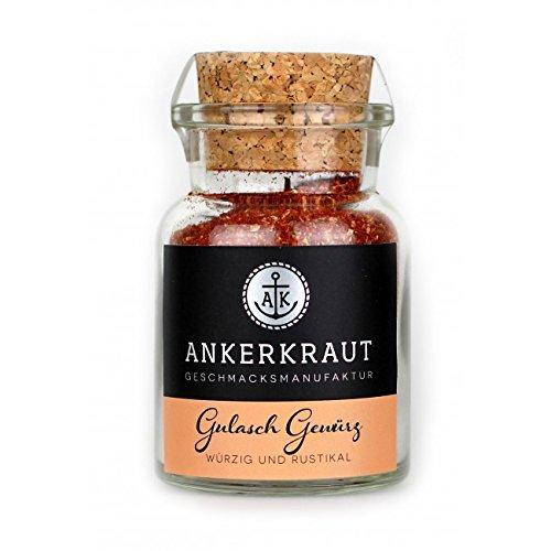 Ankerkraut Gulasch Gewürz, Gewürzmischung für ungarische Gulasch aus dem Topf oder Ofen, 80g im Korkenglas