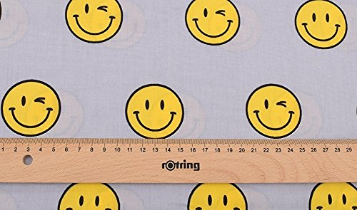 Gelber Emoticons Stoff in Metern geschnitten...