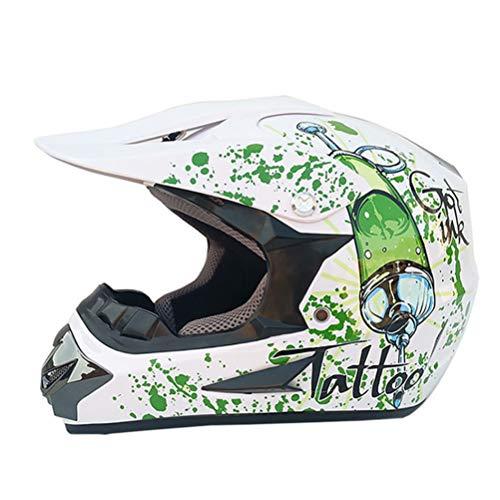 Casco de motocross con protector facial Moto transpirable Casco de moto Casco de motocicleta con visera